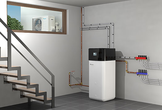 Air source heat pump works