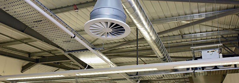 Commercial ventilation and cooling and air conditioning for commercial sector